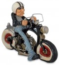 Lustige Easy Rider Fun-Dekofigur Biker Joe