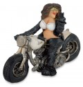 Lustige Easy Rider Fun-Dekofigur Bikerin Dolly